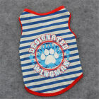 Внешний вид - New Summer Small Dog Cat Pet Footprint Stripe Vest Apparel Classic Clothes