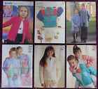 Wendy Knitting Patterns Childs Sweaters - Please Choose from the Drop-down Menu