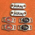 2 ~ Miami Marlins MLB Paracord Charms Oval or Mini Dog Tag shoelace charms on Ebay
