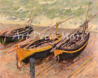 Boats by Claude Monet - CANVAS OR PRINT WALL ART