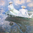 Young Women In A Boat-Monet - - CANVAS OR PRINT WALL ART