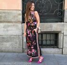 ZARA FLORAL PRINT CROP PALAZZO TROUSERS SIZE SMALL