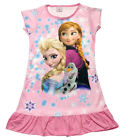 Disney Frozen Elsa Anna Olaf Children Dress Girls Pajama Nightwear 3-10 Yrs Pink