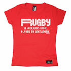 Rugby A Hooligans Played By Gentlemen WOMENS T-SHIRT team funny mothers day gift
