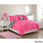 Modern Pink Girls Teens Pinched 4-PC Reversible Chevron Comforter Set All Sizes