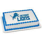 Detroit Lions NFL football image cake topper frosting sheet #21843 on eBay