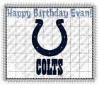 Indianapolis Colts NFL football image cake topper frosting sheet #4638 $11.7 USD on eBay