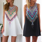 Fashion Women Casual Chiffon Sleeveless Bohemian Sundress Tank Dress