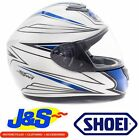 SHOEI QWEST AIRFOIL TC-2 MOTORCYCLE MOTORBIKE CRASH HELMET ROAD RACE LARGE J&S