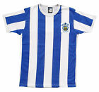 Retro Huddersfield Town 1950s Football T Shirt New Sizes Embroidered Logo S-XXL