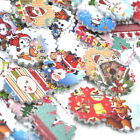 10/50/100/500pcs Mix Merry Christmas Wood Buttons 24mm Sewing Mix Lots W351