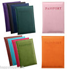 Passport Cover Holder Case Travel Wallet Faux Leather Protector Organiser Gift