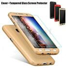 360° Tempered Glass Screen Protector +Hard Full Case Cover for Samsung Galaxy S7