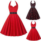 Women 50s 60s Rockabilly Retro Pinup Swing Party Housewife Prom Evening Dress