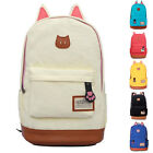 Girl Canvas Shoulder Bag Bookbag Backpack School Travel Satchel Rucksack Handbag