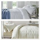 Catherine Lansfield Minimalist Bedding Duvet Quilt Cover Set in White or Cream