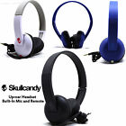 New Skullcandy Uproar On ear Headphones with Built In Mic and Remote Black Blue