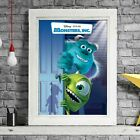 MONSTERS INC - Disney Animation Poster Picture Print Sizes A5 to A0 *FREE DELIVE