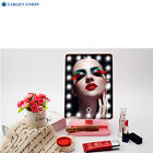 LED battery-operated cordless touch screen lighted vanity Makeup mirror US Stock