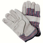 SDI 120 Pairs Natural Cow Split Leather Palm Striped Cotton Rubberized Glove New