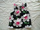 NWT GYMBOREE DAISY PARK BLACK WHITE PINK FLOWERS FLORAL TOP