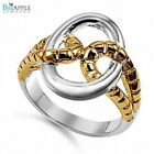 3mm 2 Tone Infinity Forever Simple Plain Woman's Love Ring Solid Sterling Silver