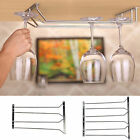 Practical Under Cabinet Stemware Wine Glass Holders Rack Hanger Shelf Silver New