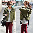 Womens Ladies Classic Long Sleeve Jacket Vintage Stylish Short Plus Size Coat