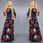 Sexy New Women Long Sleeve Maxi BOHO Evening Party Dress Beach Dresses Sundress