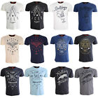 Mens T Shirt Ringspun Embroided Cotton Casual Short Sleeve Tee