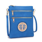 Dasein Soft Faux Leather Gold-Tone Messenger Bag  Crossbody