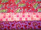 VALENTINES #3  FABRICS Sold INDIVIDUALLY NOT AS A GROUP By the HALF YARD