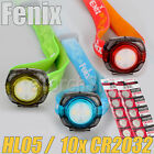 Fenix HL05 LED Headlamp W 10x CR2032 Battery Keychain Flashlight Head Torches