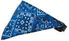Blue Western Bandana Pet Dog Collar - Black or White Collar