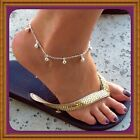 925 Sterling Silver Jingle Bell Anklet w/Free Gift Box Sizes 8