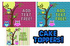 skylander printable images - Owls toppers for cake Edible image sugar SHEET topper birthday baby shower 1st