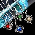 Fashion Unique New Jewelry Set Vintage Design Carving Crystal Necklace Earrings