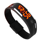 Touch Screen LED  Digital Uhr Quarzuhr Sportuhr Silikon Herren Damen Armbanduhr