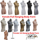 ❤ A1 Female Hanging Body Form Shop Plastic Mannequin Torso Bust Retail Display ❤