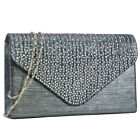 Dasein Rhinestone Frosted Evening Clutch Bags