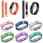Sport Silicone Rubber Wrist Band Strap +Clasp For Fitbit Alta Tacker Watch S / L