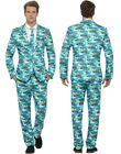 Mens Hawaiian Stand Out Suit Tropical Island Fancy Dress Costume Outfit M-XL