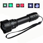 T20 38mm Zoomable Lens Green Red IR 850nm & 940 & 395nm Night Vision Flashlight
