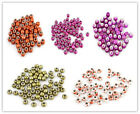 250pcs New Wholesale Printing Pattern European Style Acrylic Charms Bead 14mm L