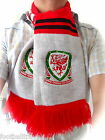 OFFICIAL WALES SCARF UNISEX football soccer calcio OSFA NEW cymru