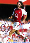 ARSENAL ROBERT PIRES SIGNED PHOTO PRINT 01A