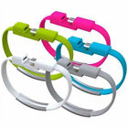 Bracelet Wrist Band USB Charger Charging Data Sync Cable Cord for Android U.S.A