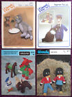 Various Toys Knitting Patterns Teddy Bears - Choose from Drop-down Menu