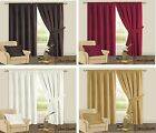 Curtains Plain Chenille Thick Fully Lined Heavy Weight Ready Made