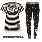 Mickey Mouse Disney Ladies Pyjamas Set T-shirt Leggings Top Womens Primark